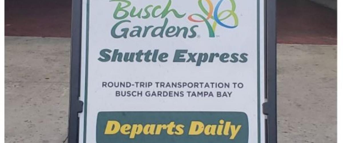 Free Shuttle From IDRIVE to Busch Gardens Tampa Daily From Icon Park